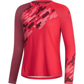 GORE WEAR C5 Trail Maillot Manga Larga Mujer, hibiscus pink/chestnut red